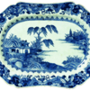 Platter, blue and white Chinese export porcelain