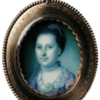 Miniature portrait, Martha Dandridge Custis Washington, by Charles Willson Peale (watercolor on ivory, 1772)