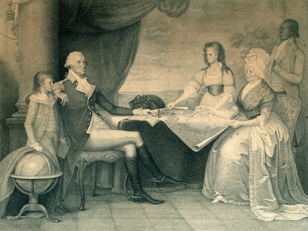 Edward Savage, <em>The Washington Family</em>, engraving after the original, c. 1789-1790