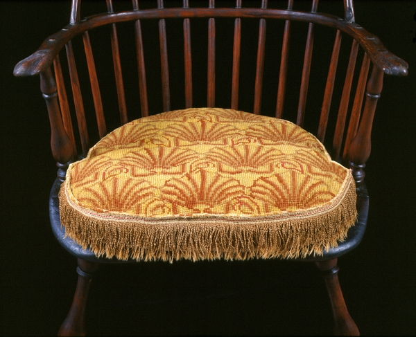Shell pattern chair cushion, c. 1765-1802