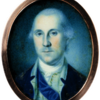 Miniature portrait, George Washington, by Charles Willson Peale (watercolor on ivory, 1776)