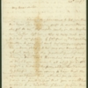 Letter, Martha Washington to Elizabeth Dandridge Henley, August 20, 1797
