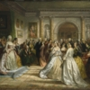 Daniel Huntington, Lady Washington's Reception (Republican Court), 1861, oil on canvas
