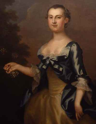 John Wollaston, portrait of Martha Dandridge Custis, oil on canvas