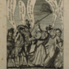 Cartoon, <em>Mrs. General Washington Bestowing Thirteen Stripes on Britania [sic]</em>